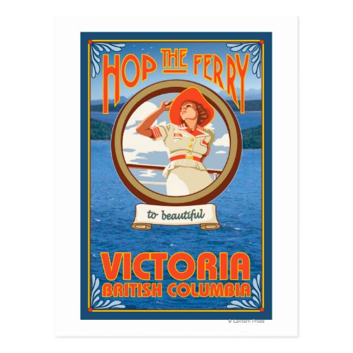 Ferry d'équitation de femme - Victoria, AVANT Carte Postale