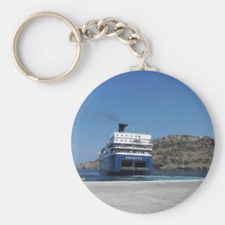 Ferry Docking Basic Round Button Keychain