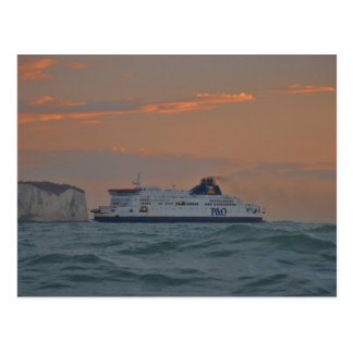 Ferry Entering Dover Postcard