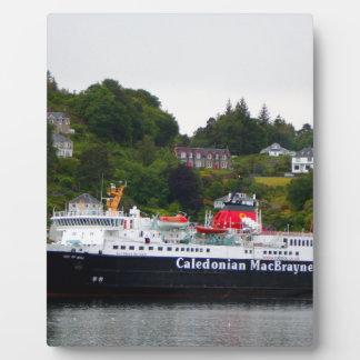 Ferry, Oban, western Scotland Plaque