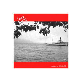 Ferry on Lac Léman Canvas Print