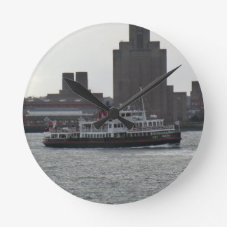 Ferry Over the River Mersey Round Clock