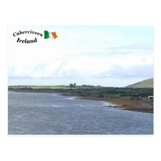 Fertha River Ballycarberry Castle, Kerry, Ireland Postcard