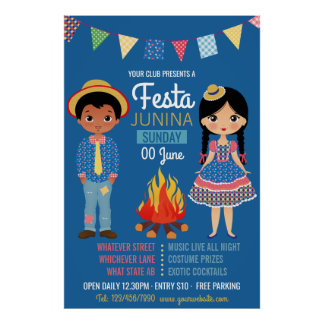 Festa Junina Corporate/Club Party Advertisement Poster