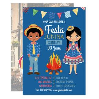 Festa Junina Corporate/Club Party photo Invitation