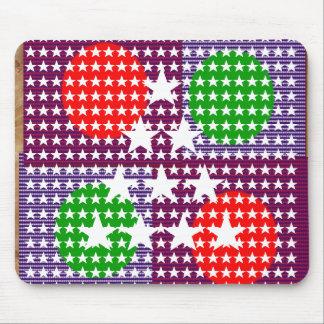 Festival Decorations: Star Moon Sparkle Mouse Pad