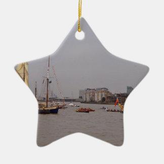 Festival in Greenwich Ceramic Star Ornament