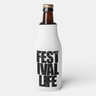 FESTIVAL LIFE (blk) Bottle Cooler