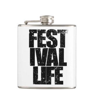 FESTIVAL LIFE (blk) Hip Flask