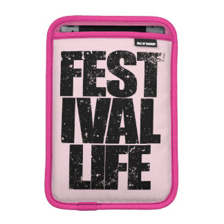 FESTIVAL LIFE (blk) iPad Mini Sleeve