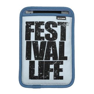 FESTIVAL LIFE (blk) iPad Mini Sleeve