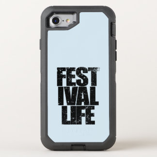 FESTIVAL LIFE (blk) OtterBox Defender iPhone 8/7 Case