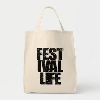 FESTIVAL LIFE (blk) Tote Bag