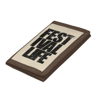 FESTIVAL LIFE (blk) Trifold Wallets
