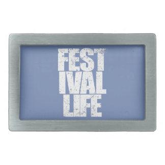 FESTIVAL LIFE (wht) Belt Buckle