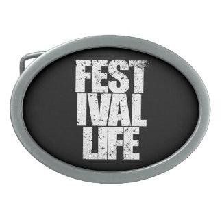 FESTIVAL LIFE (wht) Belt Buckles