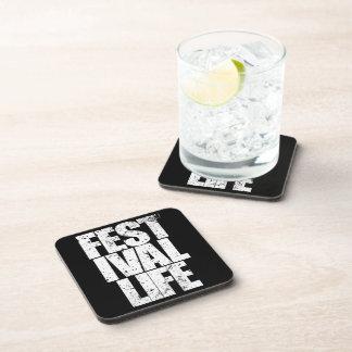 FESTIVAL LIFE (wht) Beverage Coaster