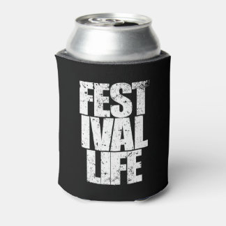 FESTIVAL LIFE (wht) Can Cooler