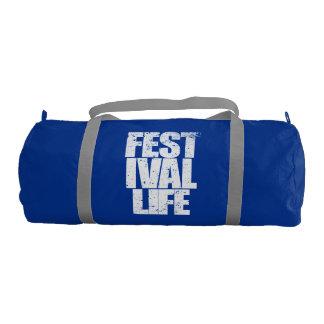 FESTIVAL LIFE (wht) Gym Bag