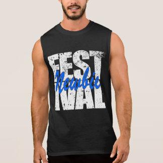 Festival Newbie (wht) Sleeveless Shirt