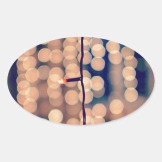 Festival Of Lights. Happy Diwali ! Bokeh Oval Sticker