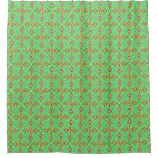 festival pattern green/mint