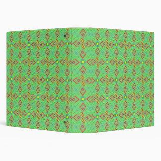 festival pattern green/mint 3 ring binder