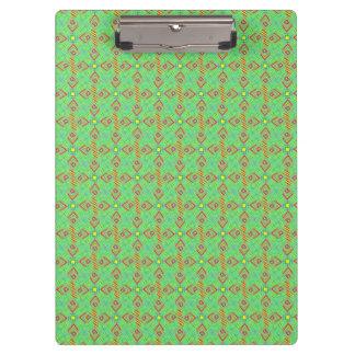 festival pattern green/mint clipboard