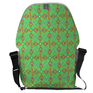 festival pattern green/mint commuter bags