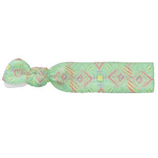 festival pattern green/mint hair tie