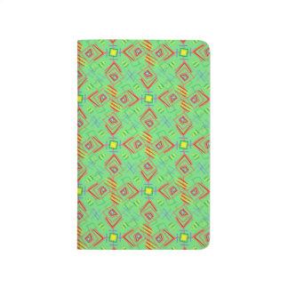 festival pattern green/mint journals