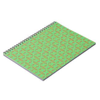 festival pattern green/mint notebooks