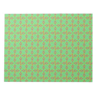 festival pattern green/mint notepad