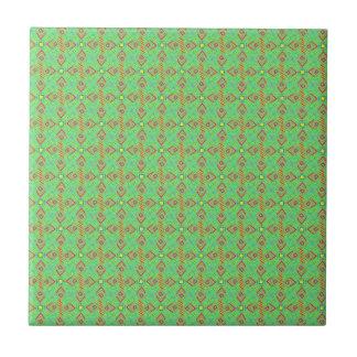 festival pattern green/mint tile