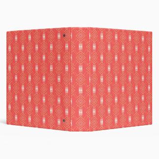 festival pattern peach binder