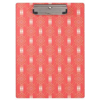festival pattern peach clipboard