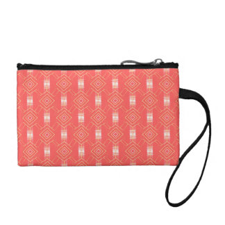 festival pattern peach coin purse