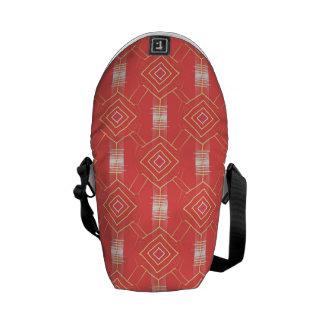 festival pattern peach commuter bag