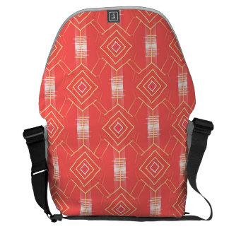 festival pattern peach commuter bags