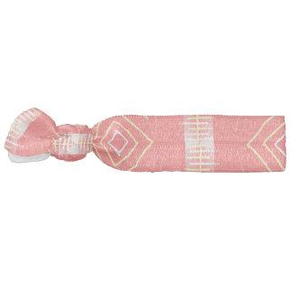 festival pattern peach hair tie