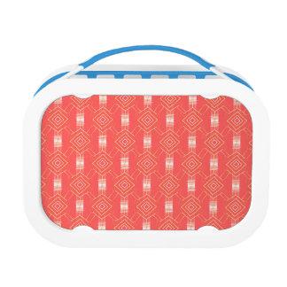 festival pattern peach lunch box