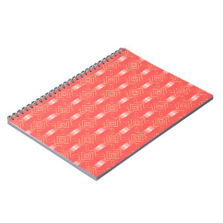 festival pattern peach notebooks