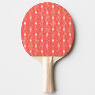 festival pattern peach ping pong paddle