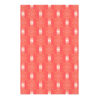 festival pattern peach stationery