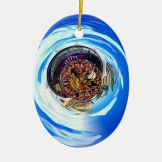 Festival Portal Ceramic Oval Ornament