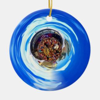Festival Portal Round Ceramic Ornament