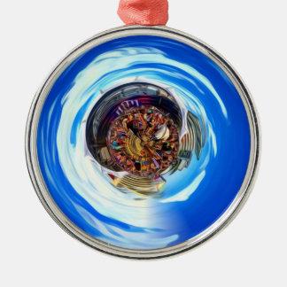 Festival Portal Silver-Colored Round Ornament