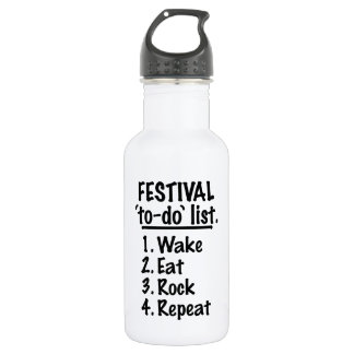 Festival 'to-do' list (blk) 532 ml water bottle