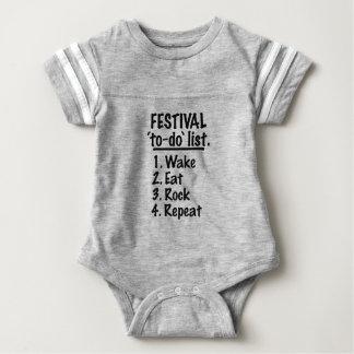 Festival 'to-do' list (blk) baby bodysuit