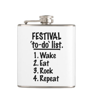 Festival 'to-do' list (blk) flask